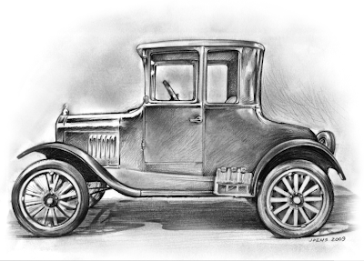 how to draw a model t ford step by step