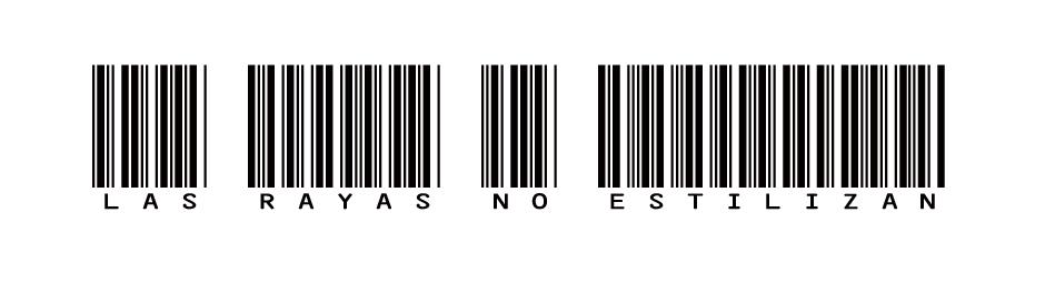 LAS RAYAS NO ESTILIZAN