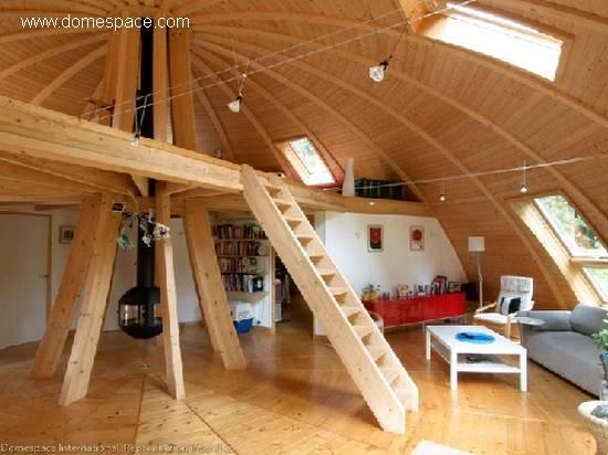 Arquitectura de casas casa domo francesa hecha de madera - Casas de ensueno interiores ...