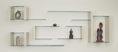 Estantes de vidrio flotante