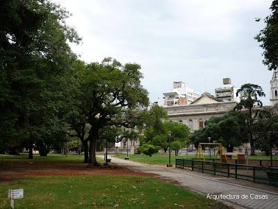 Plaza en Rosario, Argentina