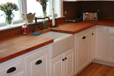 Arquitectura de casas encimeras de madera for Encimeras de madera para cocinas
