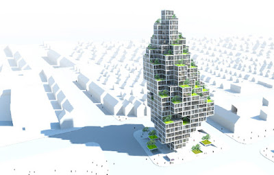 Edificio residencial render