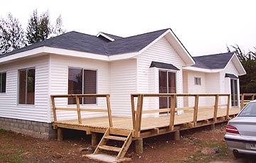 Moderna casa de madera prefabricada