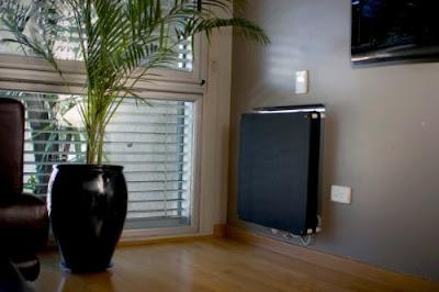 Calefactor eléctrico placa pintada de negro