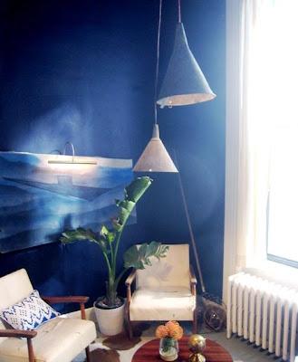 Decoracion pintura azul