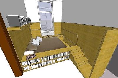 Mueble diseño perspectiva