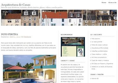 Portada de Arquitecturadecasas.info
