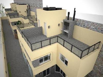 Casas duplex perspectiva