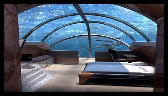 Casa bajo agua