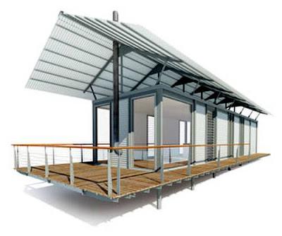 Arquitectura de casas casa de acero steel house en australia - Casas estructura metalica ...