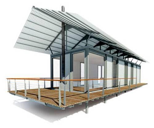 Arquitectura de casas casa de acero steel house - Estructuras de hierro para casas ...