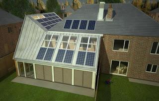 Casas inglesas con paneles solares
