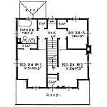 Plano arquitectónico de la planta alta de la casa