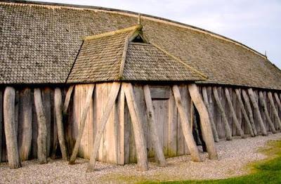 Detalle de casa vikinga