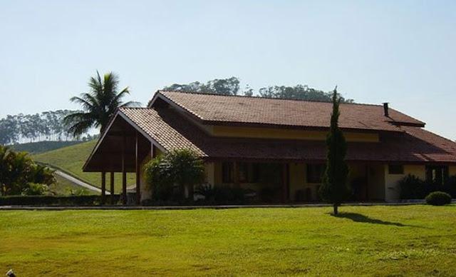 Hacienda brasileña casa principal de arquitectura Tropical