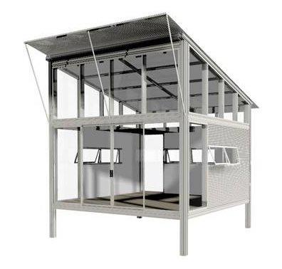 kit-Haus módulo habitable industrializado de metal liviano