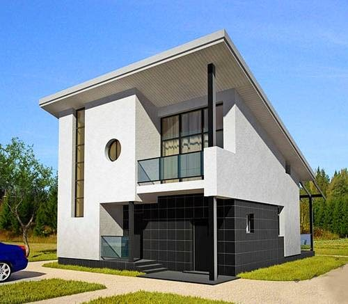 Arquitectura de casas prefabricada moderna de madera - Casas americanas espana ...
