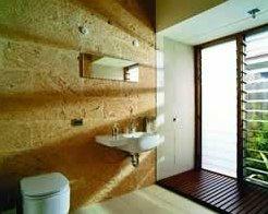 Un baño en la casa rural australiana
