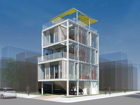 Vivienda prefabricada con estructura de aluminio