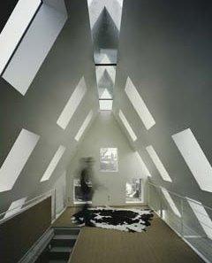 Casa de arquitectura alemana vanguardista vista por dentro