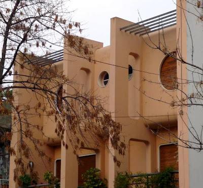 Fachada de casas duplex