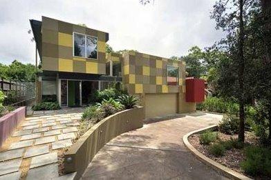 Casa residencial contemporánea australiana de suburbio