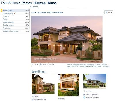 Casa residencial de estilo arquitectónico Asia Fusión
