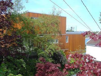 Arquitectura canadiense casa contemporánea de madera