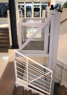 Plataforma con ascensor