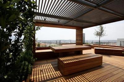 Terraza + jardín + deck