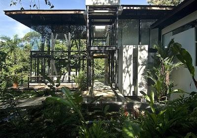 Perfil del pabellón de diseño arquitectónico Tropical