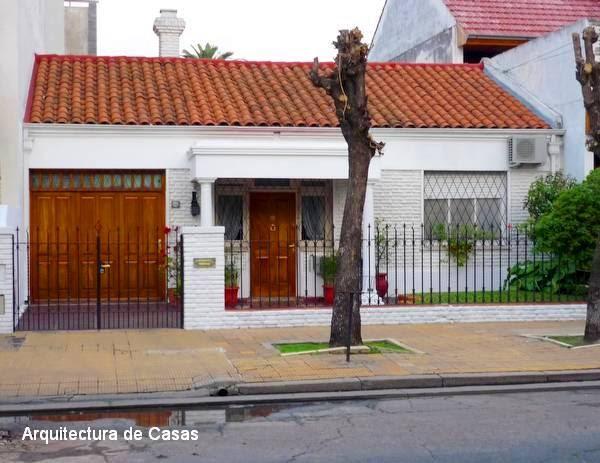 Arquitectura de casas ladrillos pintados de blanco - Ladrillos decorativos para exteriores ...