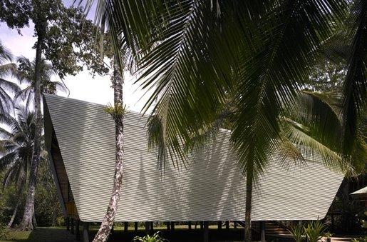 Casa Tropical perfil del techo