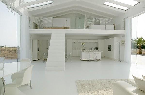 Arquitectura de casas escalera minimalista en un loft de for Casa moderna tipo loft