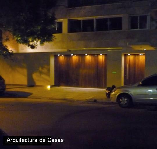 Arquitectura De Casas Iluminaci N De Las Entradas
