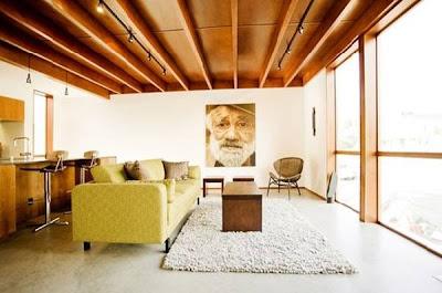 Vista interior de la residencia contemporánea