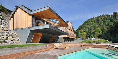 Casa de diseño en perspectiva