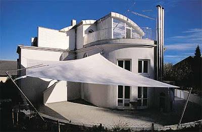 Parasol arquitectura textil