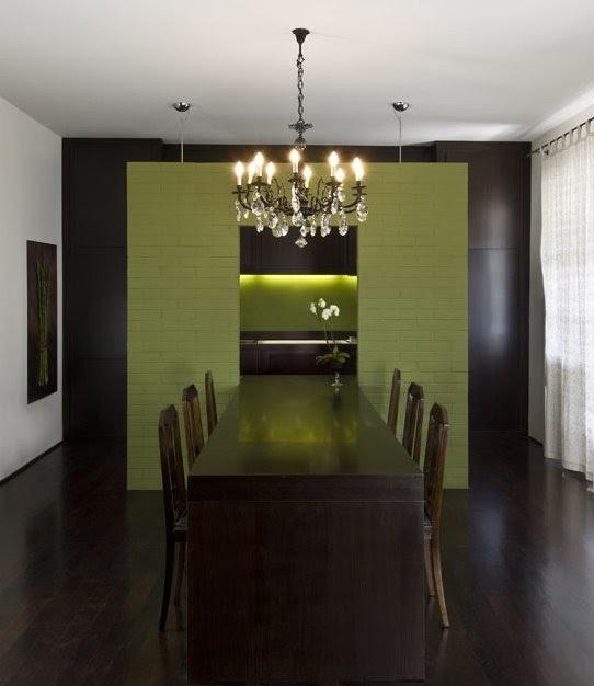 Arquitectura de casas mueble comedor integrado a la cocina - Cocina comedor integrados ...