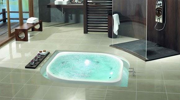 Baño De Tina Concepto:Arquitectura de Casas: Baño hidromasaje