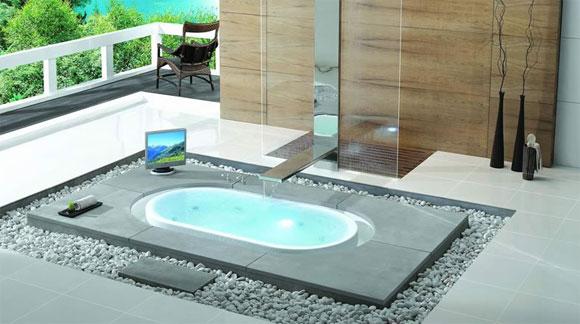 Baño Pequeno Con Jacuzzi:El hidromasaje se convierte en un nuevo estándar para los baños de