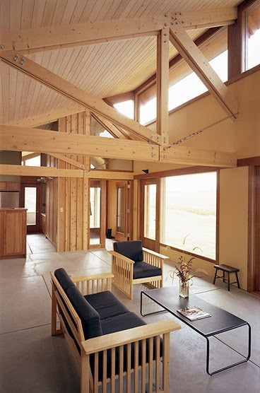Casa rural americana interior de madera