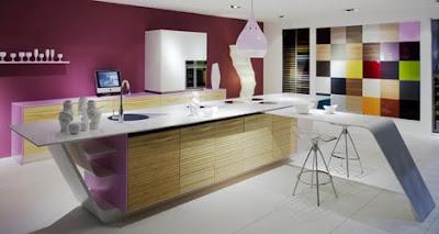 Diseño de cocina a colores