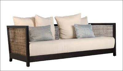 Arquitectura de casas muebles de madera y fibras vegetales for Mueble tipo divan