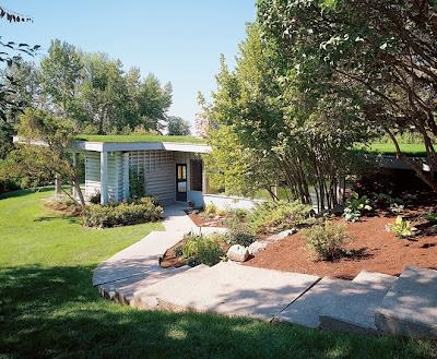 Cabaña R. Neutra con techos verdes