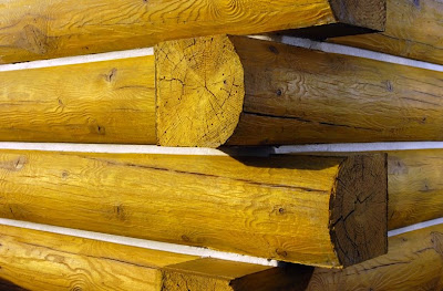 Troncos artificiales de concreto simil madera para muros de cabañas