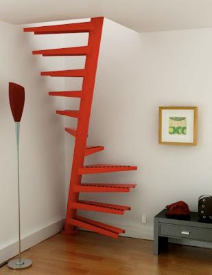 Arquitectura de casas escalera en un metro cuadrado for Modelos de escaleras exteriores para casas