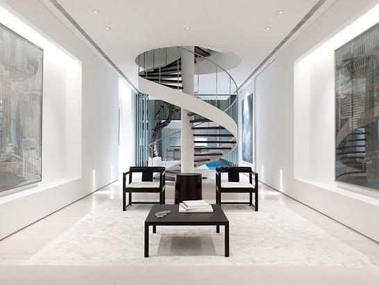 Arquitectura de casas escalera interior espiral contempor nea - Escalera en espiral ...