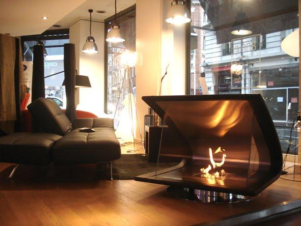 Chimenea moderna de diseño para interiores